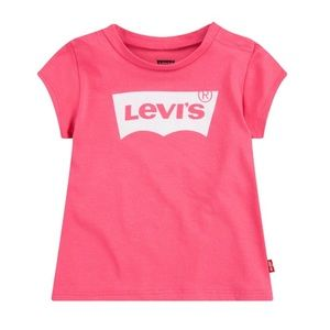 LEVI'S Girls T-shirt Rose Sparkle Logo Size M NWT